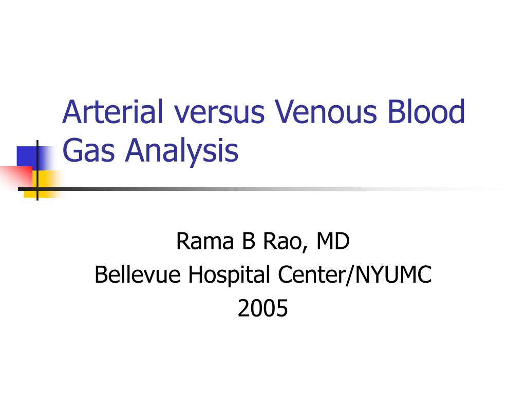 arterial versus venous blood gas analysis l.