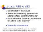 lactate abg vs vbg