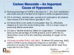 carbon monoxide an important cause of hypoxemia