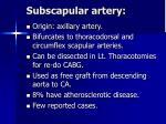 subscapular artery