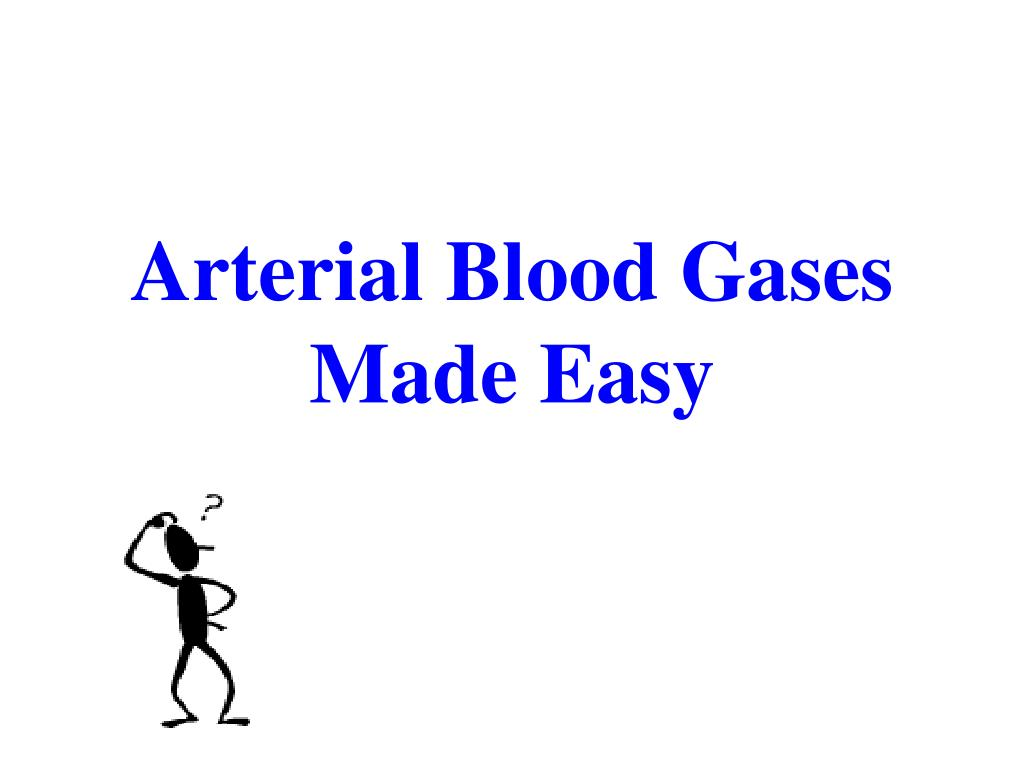arterial blood gases made easy l.