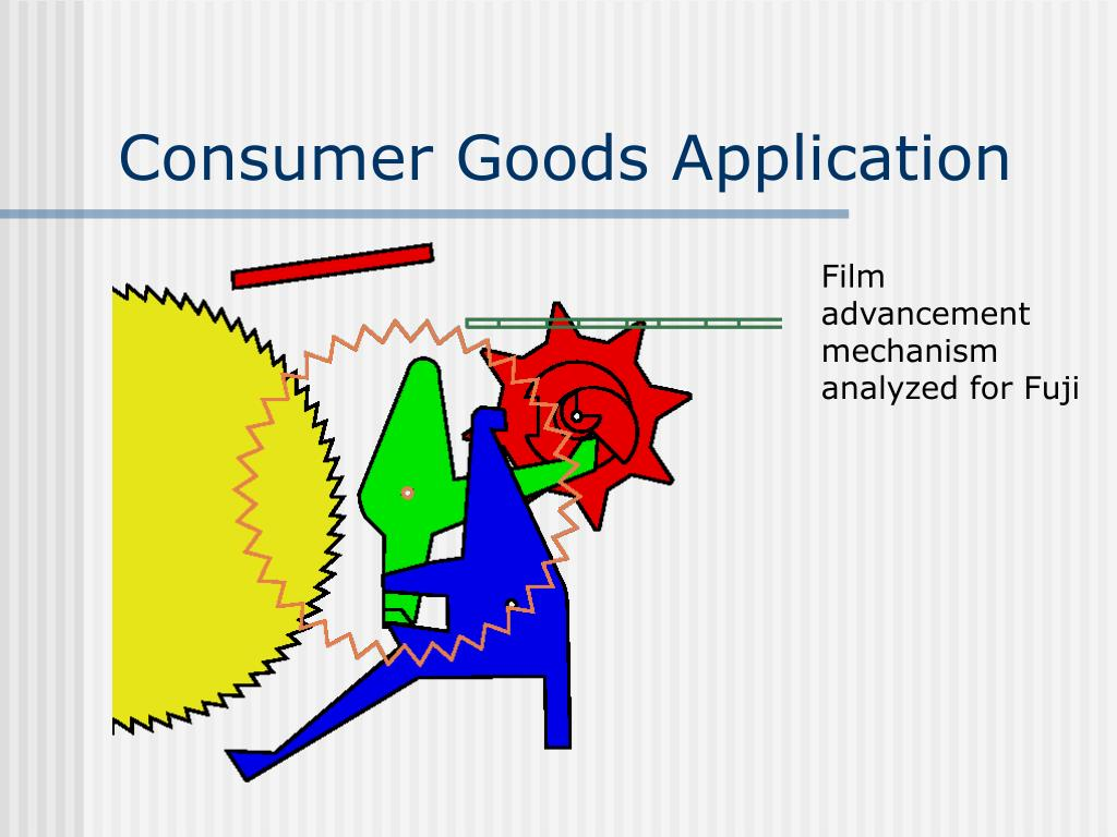Consumer Goods Application