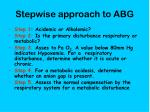 stepwise approach to abg