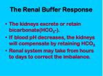 the renal buffer response
