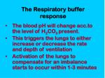 the respiratory buffer response