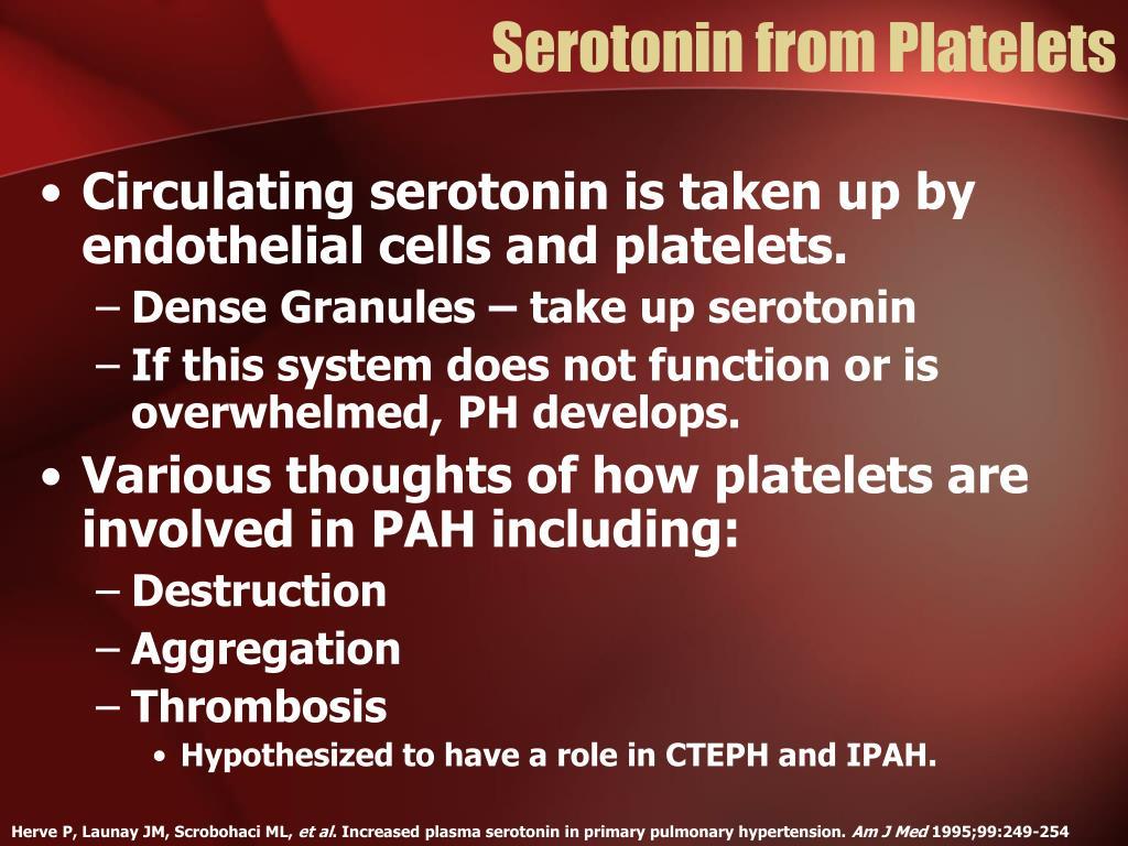 Serotonin from Platelets