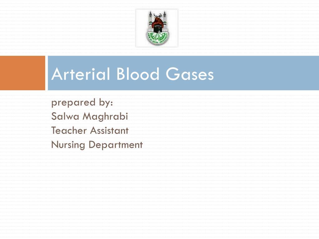 arterial blood gases l.