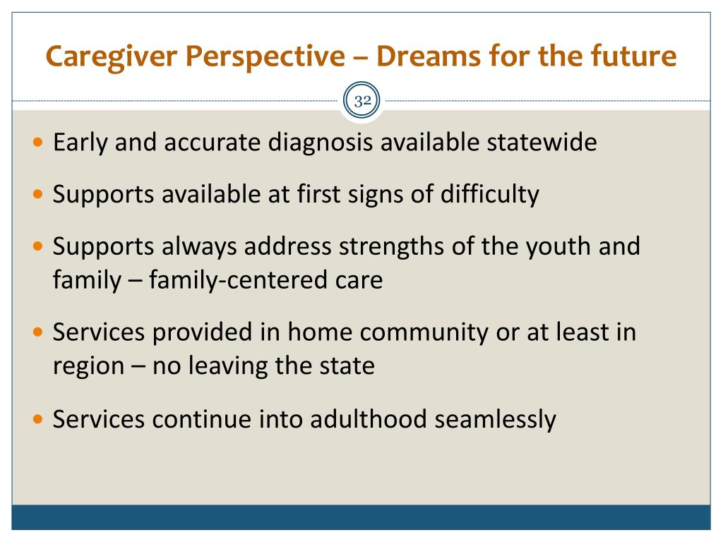 Caregiver Perspective – Dreams for the future