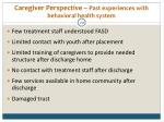 caregiver perspective past experiences with behavioral health system29