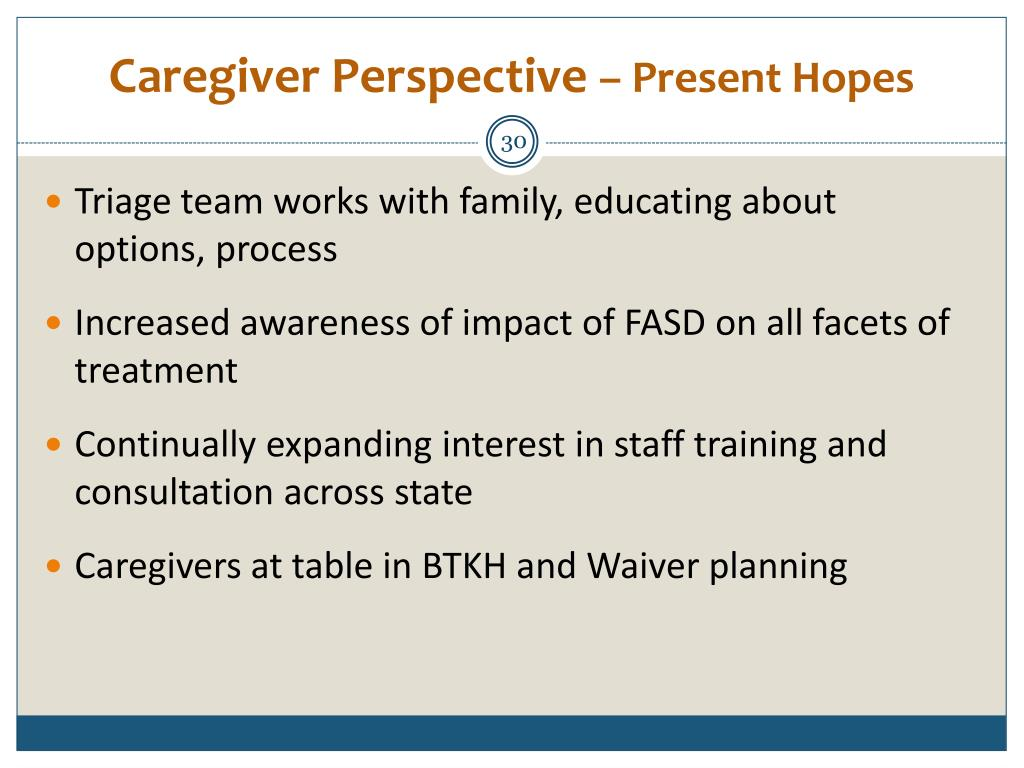Caregiver Perspective