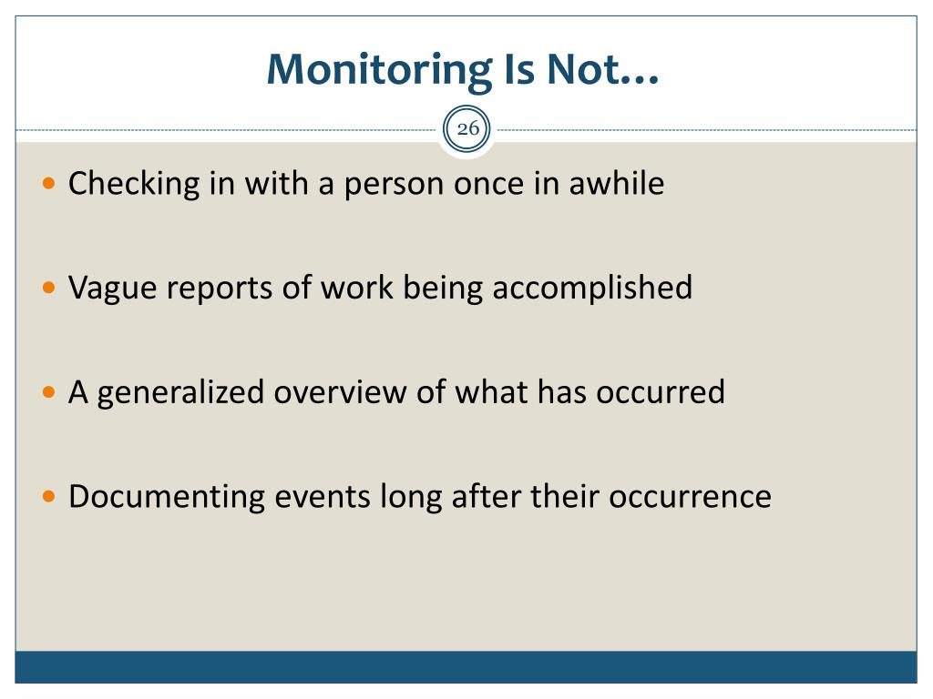 Monitoring Is Not…