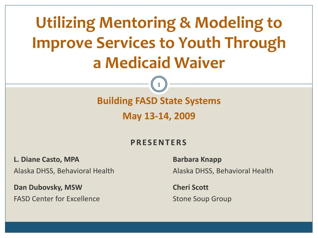 utilizing mentoring modeling to improve services to youth through a medicaid waiver l.