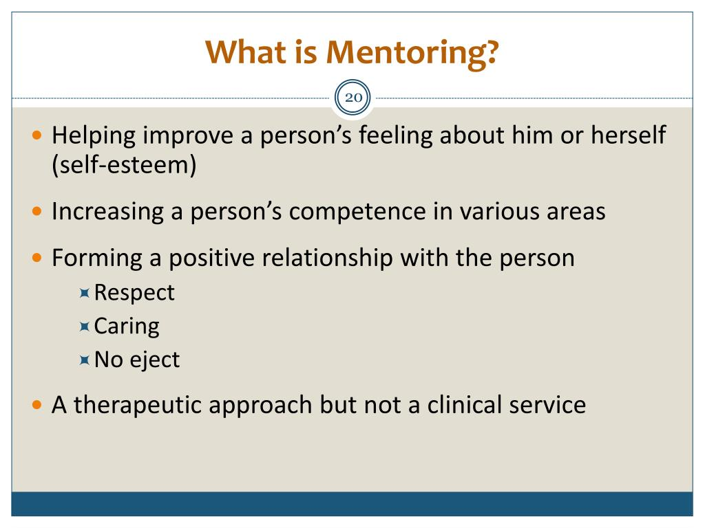 What is Mentoring?