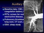 auxillary studies