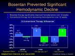 bosentan prevented significant hemodynamic decline