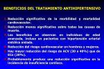 beneficios del tratamiento antihipertensivo