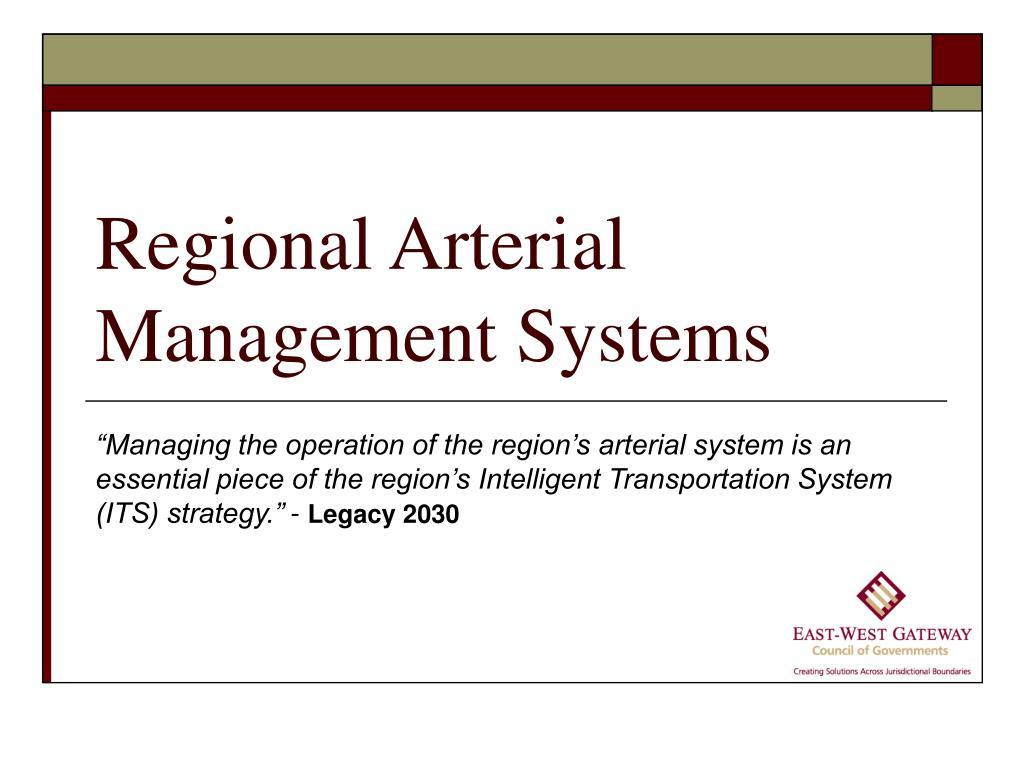 regional arterial management systems l.