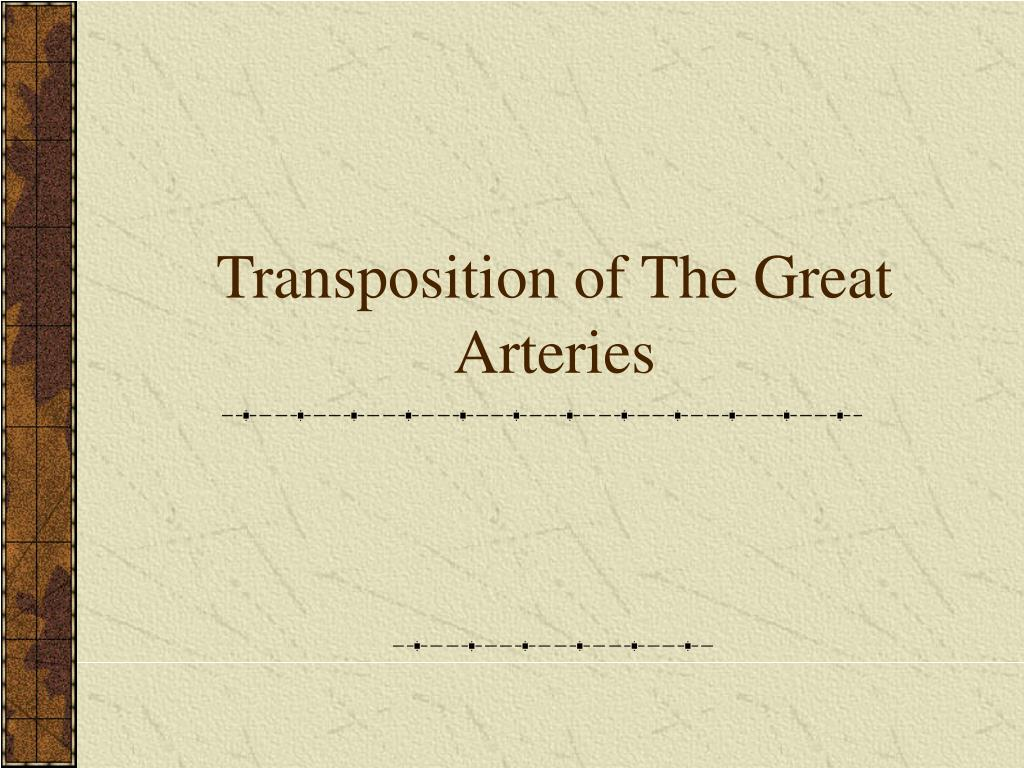 transposition of the great arteries l.