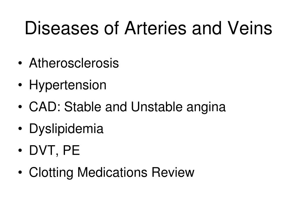diseases of arteries and veins l.