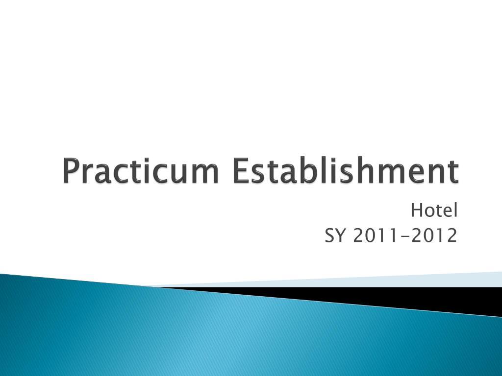 practicum establishment l.