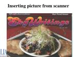 inserting picture from scanner