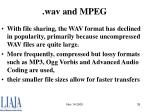 wav and mpeg