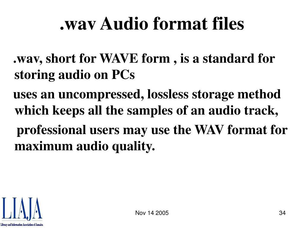 .wav Audio format files