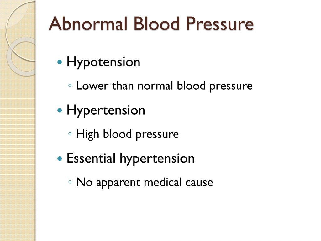 Abnormal Blood Pressure