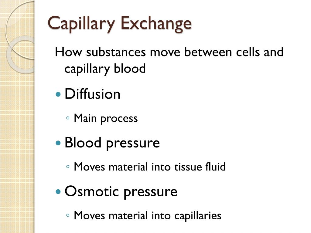 Capillary Exchange