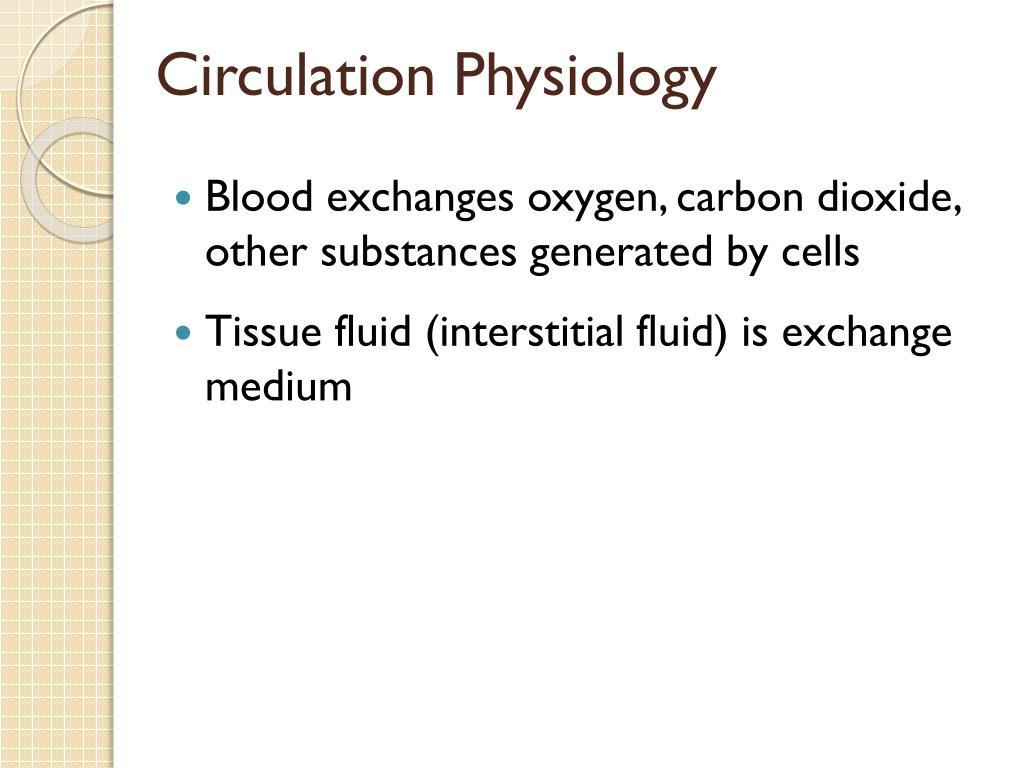 Circulation Physiology