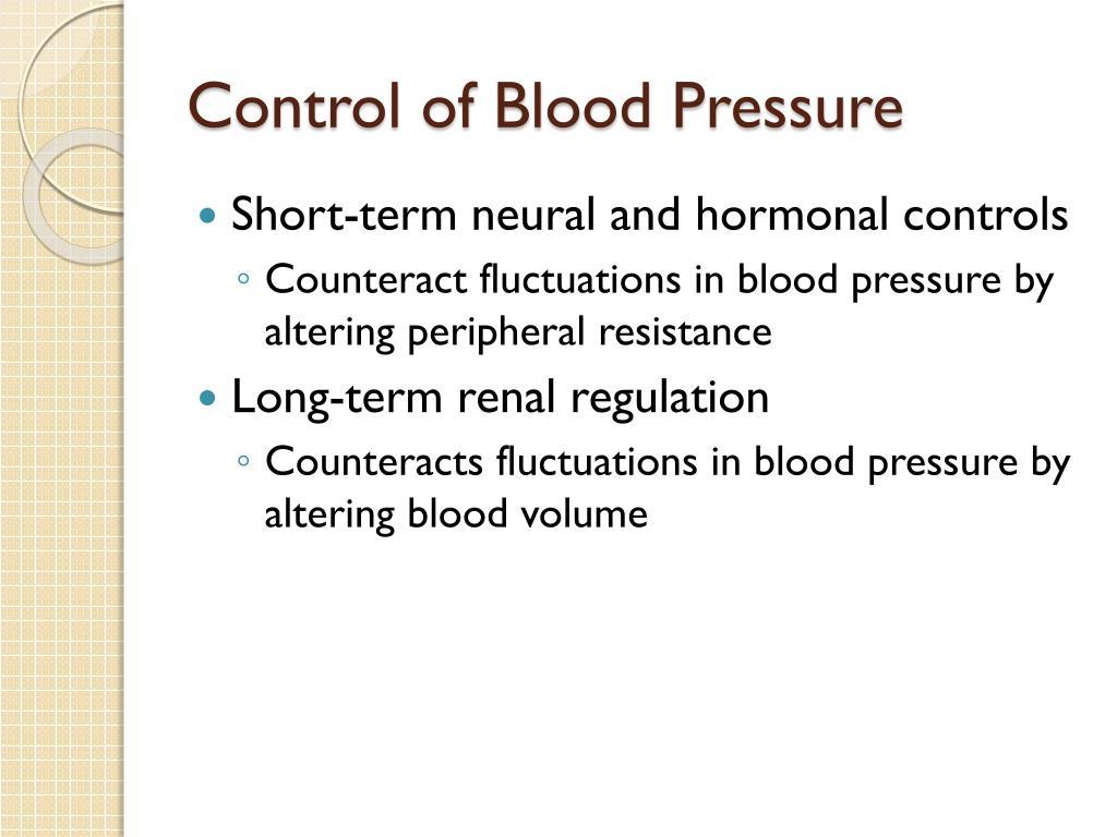 Control of Blood Pressure