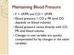 maintaining blood pressure55