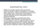 automaticity cont