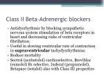 class ii beta adrenergic blockers