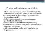 phosphodiesterase inhibitors