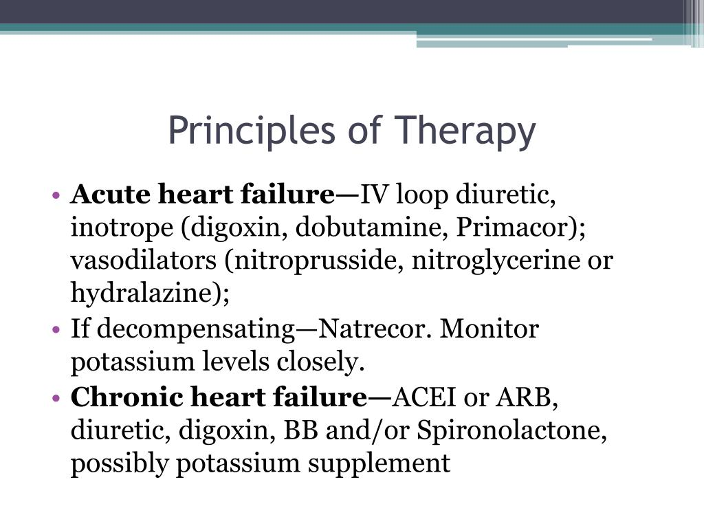 Principles of Therapy