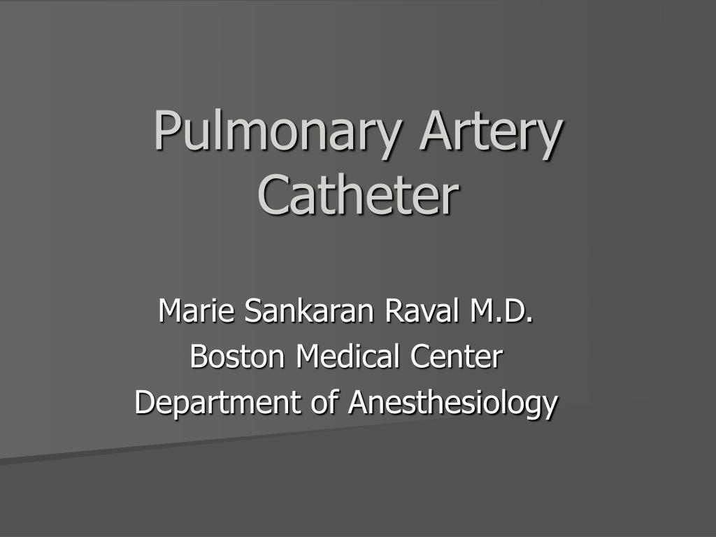 pulmonary artery catheter l.