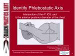 identify phlebostatic axis