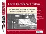 level transducer system