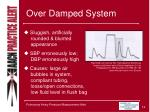 over damped system