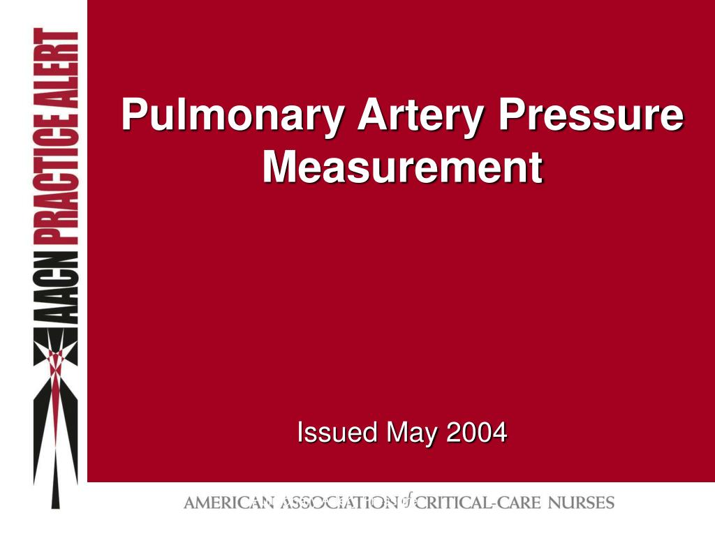 pulmonary artery pressure measurement l.