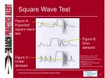 square wave test