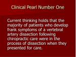 clinical pearl number one