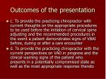 outcomes of the presentation5