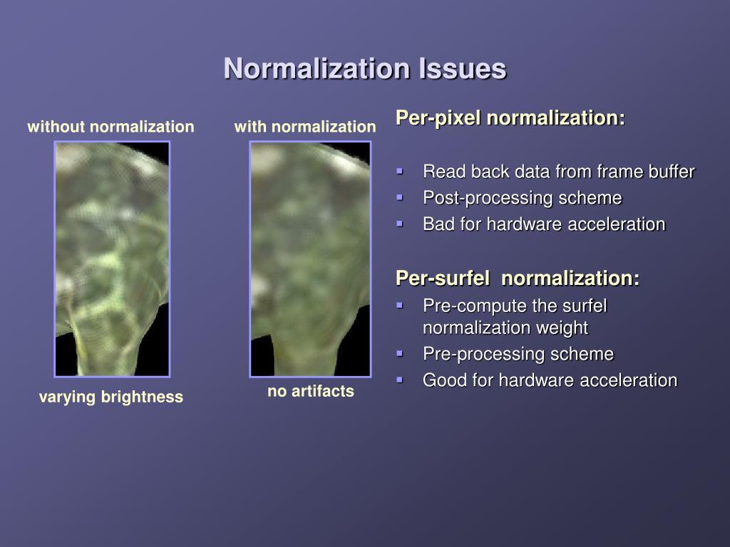 Per-pixel normalization: