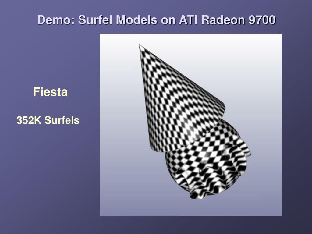 Demo: Surfel Models on ATI Radeon 9700