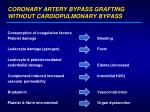 coronary artery bypass grafting without cardiopulmonary bypass12