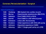 coronary revascularization surgical