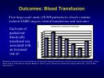 outcomes blood transfusion21
