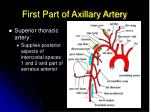 first part of axillary artery